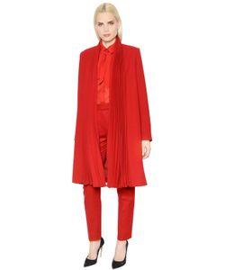 INGIE | Pleated Wool Crepe Coat