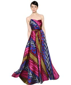 INGIE | Abstract Striped Jacquard Gown