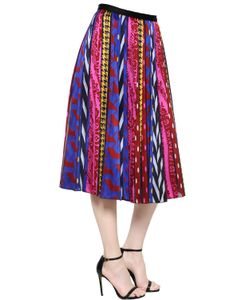 INGIE | Abstract Striped Jacquard Midi Skirt