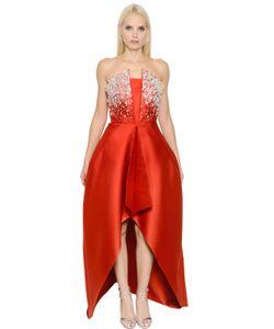 INGIE   Embellished Duchesse High Low Dress