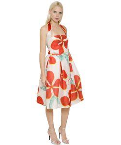 INGIE   Floral Printed Silk Raffia Dress