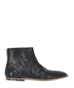 INK SHOES | Textured Leather Ankle Boots