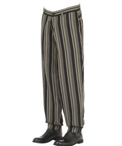 Isabel Benenato | Striped Cool Wool Blend Sarouel Pants