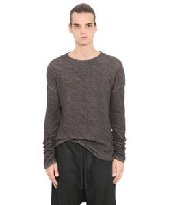 Isabel Benenato | Wrinkled Cotton Linen Jersey T-Shirt