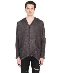Isabel Benenato   Wrinkled Cotton Linen Sweatshirt