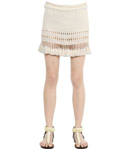 Isabel Marant | Cotton Knit Skirt With Tassel Trim