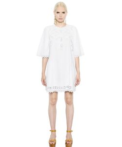 ISABEL MARANT ÉTOILE | Embroidered Cotton Poplin Dress
