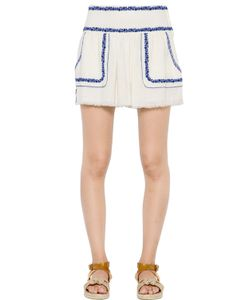 ISABEL MARANT ÉTOILE | Embroidered Cotton Gauze Skirt