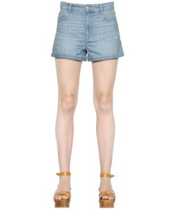 ISABEL MARANT ÉTOILE | Distressed Cotton Denim Shorts