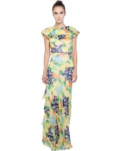 Isolda | Printed Silk Chiffon Dress