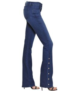 J Brand | Charlene Mid Rise Button Boot Cut Jeans