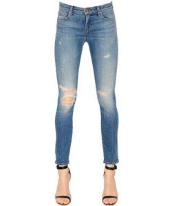J Brand | Low Rise Skinny Destroyed Denim Jeans