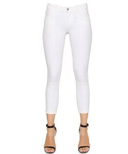 J Brand | Mid Rise Capri Cotton Denim Jeans