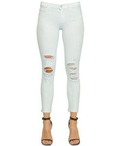 J Brand | Low Rise Crop Distressed Denim Jeans