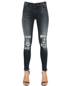 J Brand | Mid Rise Destroyed Skinny Denim Jeans