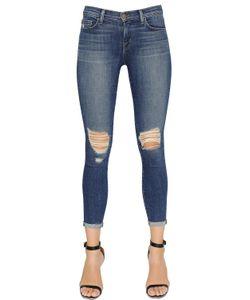 J Brand | Mid Rise Destroyed Denim Capri Jeans