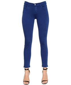 J Brand | Mid Rise Crop Rail Leg Cotton Denim Jean