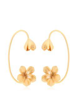 JADE JAGGER | Frangipani Flower Cuff Earrings