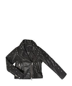 JAKIOO | Studded Leather Moto Jacket