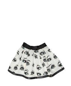 JAKIOO | Eyes Printed Pleated Skirt