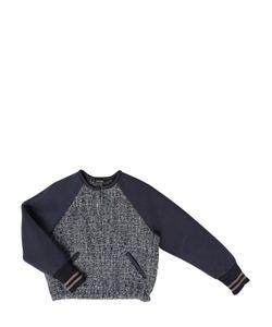 JAKIOO | Wool Bouclé Neoprene Bomber Jacket