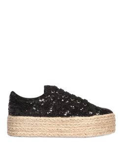 JC PLAY | 50mm Sequined Rope Platform Sneakers