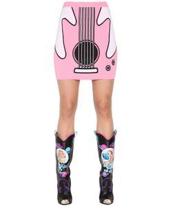 Jeremy Scott | Guitar Jacquard Rayon Knit Mini Skirt