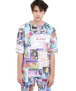 JEREMY SCOTT VINTAGE | Printed Jersey Maxi T-Shirt