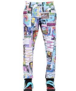 JEREMY SCOTT VINTAGE | Printed Fleece Jogging Trousers