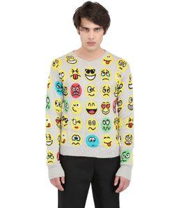 JEREMY SCOTT VINTAGE | Emoticon Cotton Knit Sweater