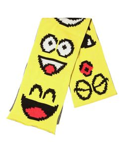 JEREMY SCOTT VINTAGE | Emoticon Cotton Knit Scarf