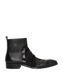 JO GHOST | 25mm Python Leather Ankle Boots