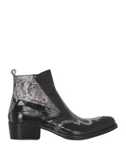 JO GHOST | Handcrafted Leather Python Boots