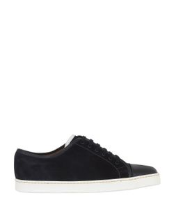 JOHN LOBB | Suede Sneakers With Leather Trim Toe