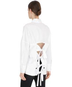 Jonathan Simkhai   Tie Back Cotton Oxford Shirt