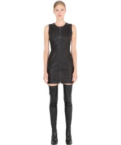 JOSE' SANCHEZ | Sleeveless Stretch Nappa Leather Dress