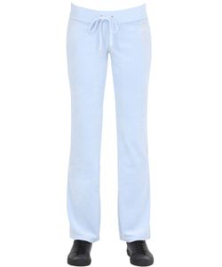 Juicy Couture | Crystal Logo Velour Jersey Jogging Pants