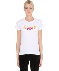 Juicy Couture | Embroidered Logo Cotton Jersey T-Shirt