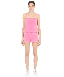 Juicy Couture | Strapless Washed Cotton Jersey Romper
