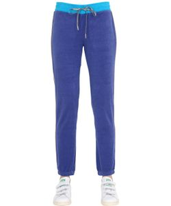 Juicy Couture | Two Tone Cotton Jersey Jogging Pants