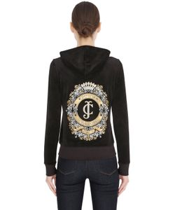 Juicy Couture | Embellished Cotton Jersey Sweatshirt