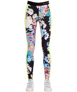 Juicy Couture | Flowers Printed Cotton Jersey Leggings