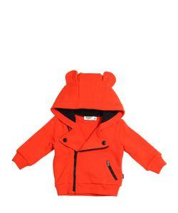 Junior Gaultier | Hooded Cotton Zip-Up Sweatshirt