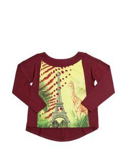 Junior Gaultier | Giraffe In Paris Satin Jersey T-Shirt