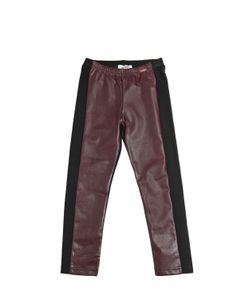 Junior Gaultier | Milano Jersey Faux Leather Leggings