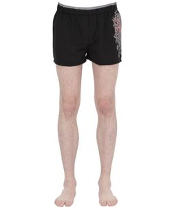 Just Cavalli Beachwear | Tribal Printed Nylon Swimming Shorts