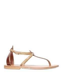 K.JACQUES ST. TROPEZ | Buffon Embossed Patent Leather Sandals