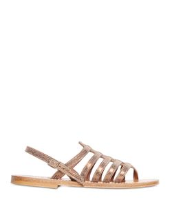 K. Jacques St. Tropez | Homere Embossed Leather Sandals