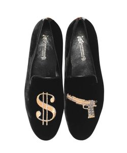 Kardinale | Gun Embroidered Suede Loafers