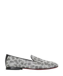 Kardinale | Leo Pattern Crystal Embellished Loafers